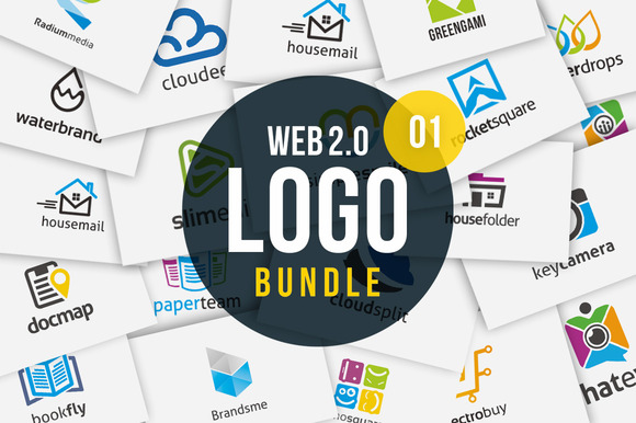 Web 2.0 Logo Bundle Vol 01