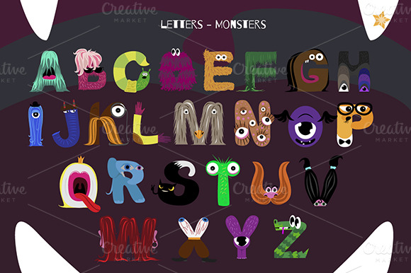 alphabet with letters