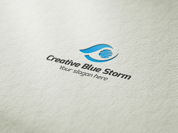 Creative Blue Storm Logo