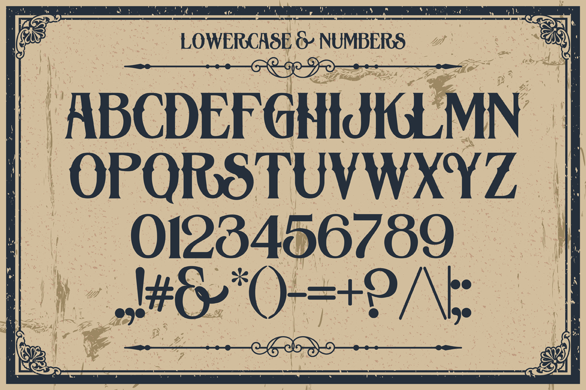 Old Fashioned Display Lettering