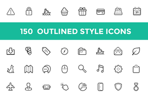Outlined Style Icon Set