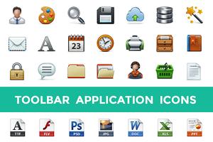 Toolbar Application Icon Set