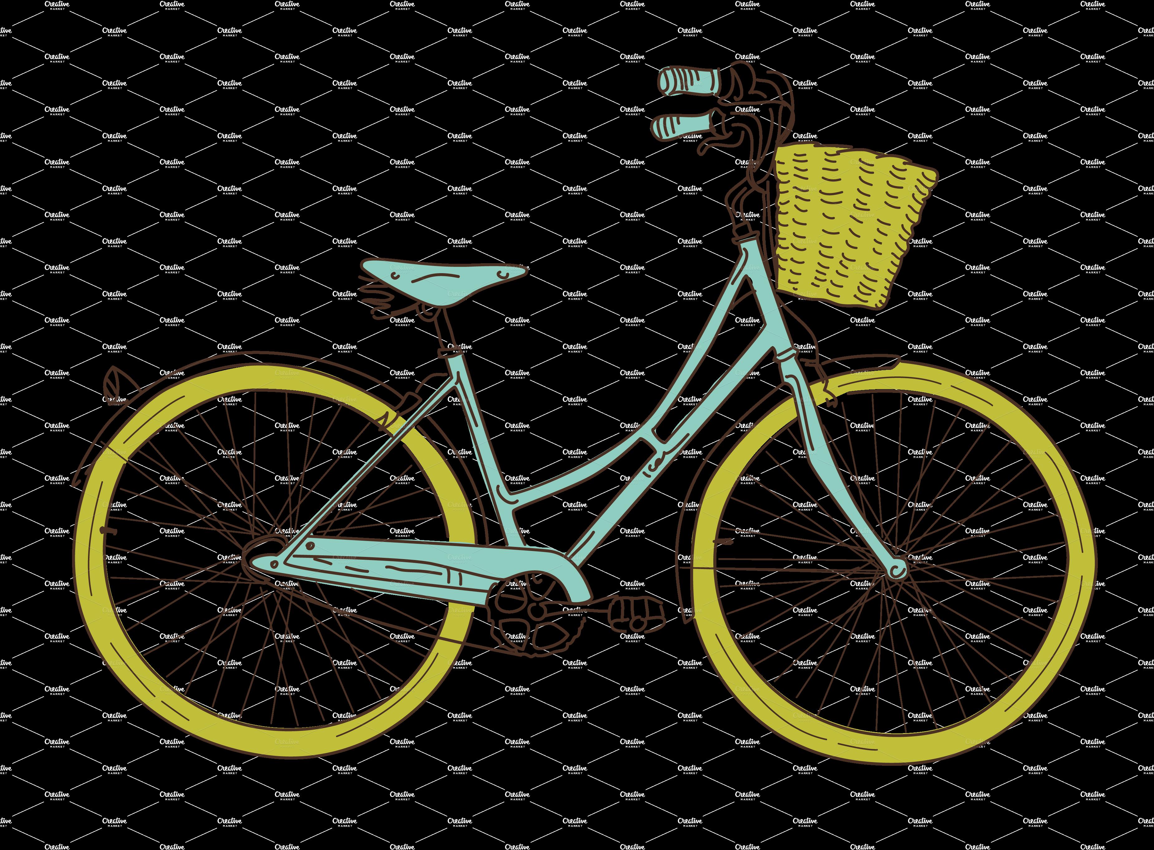 Vintage Bicycle Clip Art 64