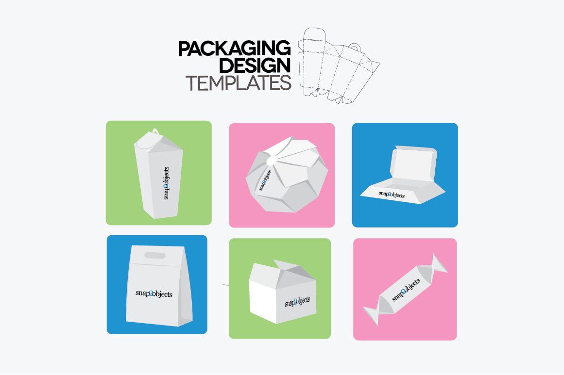 Packaging Design Templates ~ Stationery Templates on ... Unique Package Design Templates