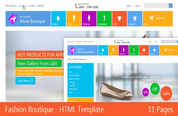 Fashion Boutique Responsive HTML