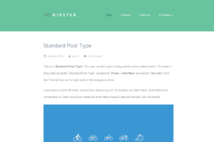 Hipster - A Retina WordPress Blog