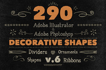 290 Handwritten Decorative Shapes 06