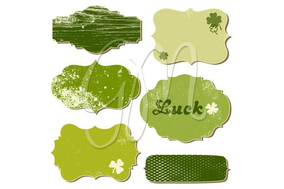 12 St. Patrick's Day Frames, clipart - Illustrations
