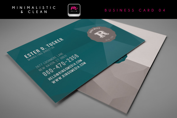 Clean Business Card Template 04