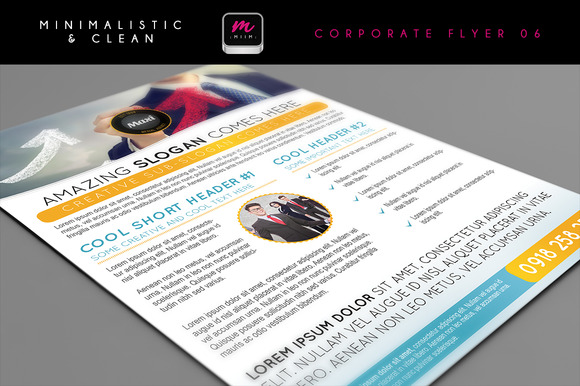 Clean Corporate Flyer Template 06