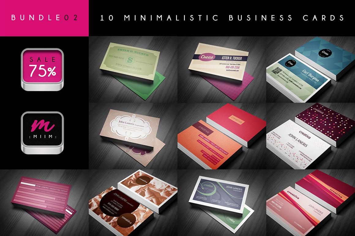 (Sale -75%) Business Cards Bundle 02 ~ Business Card ...