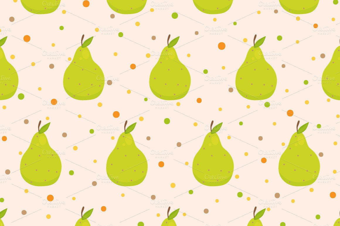 Set fruit patterns ~ Patterns on Creative Market