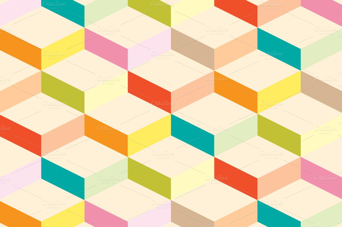 set of colored geometric patterns
