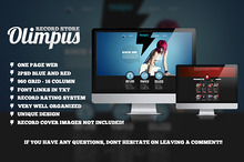 Olympus Record Store PSD Template