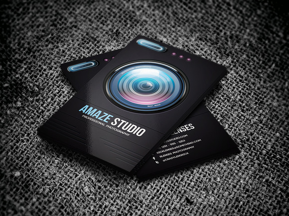 Photographer lens business card business card templates for Photographer id card template
