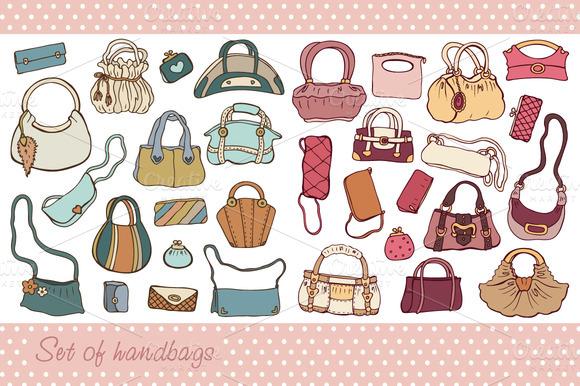Handbag Illustrations Handbags Set Illustrations