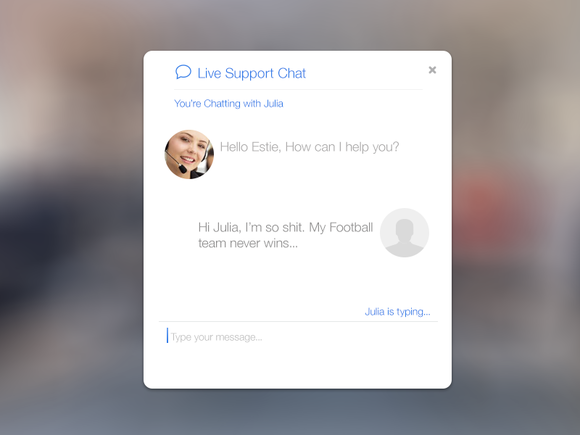 IOS 7 Inspired Live Support Chat