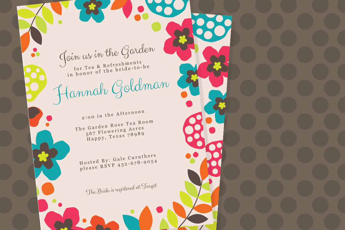 summer flower invite