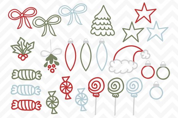 Clip Art Vector Christmas Doodles