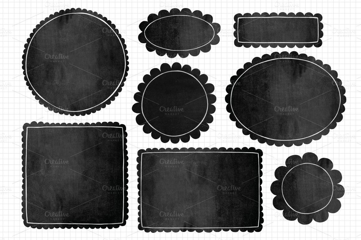 Free Chalkboard Clipart Frames
