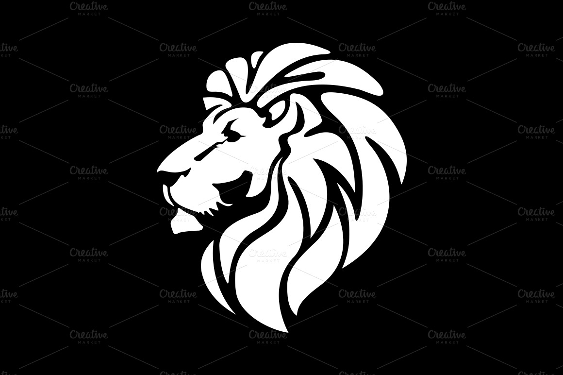 Lion Face Silhouette Pictures to Pin on Pinterest - PinsDaddy