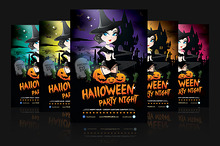Witch Cemetery - Halloween Flyer