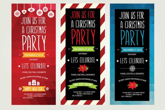 3 Christmas Invitations
