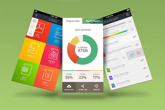 Mobile App Mock Ups