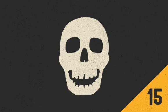 Vector Skulls Crossbones 15 Pack