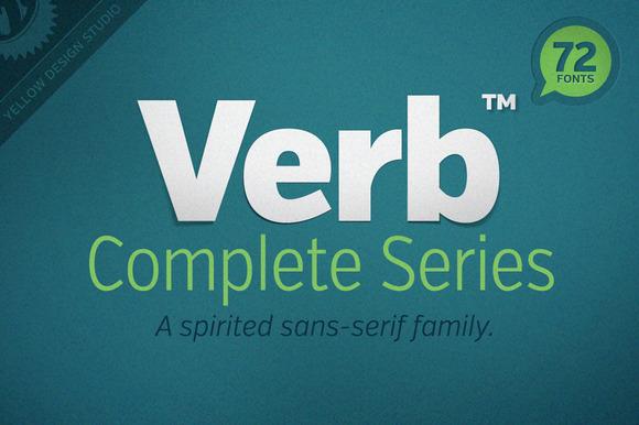 Verb Complete Series Webfonts