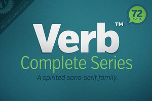 Verb™ Complete Series (72 Fonts)