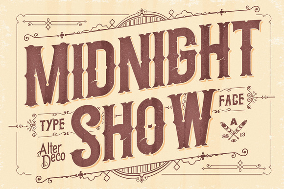 Midnight show typeface display fonts on creative market for Show me western designs