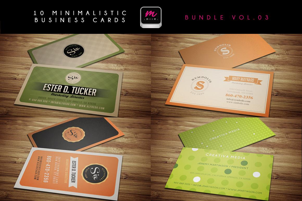 (Sale -75%) Business Cards Bundle 03 ~ Business Card ...
