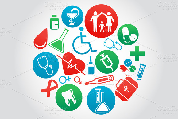 Medical And Healthcare Icons Set