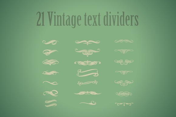 21 Vintage Text Dividers