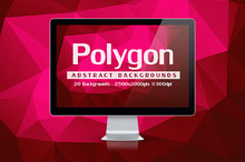 20 Abstract Polygon Backgrounds