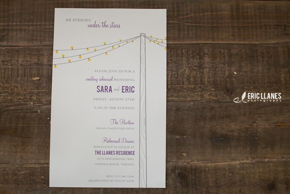 Wedding Rehearsal Invite Template