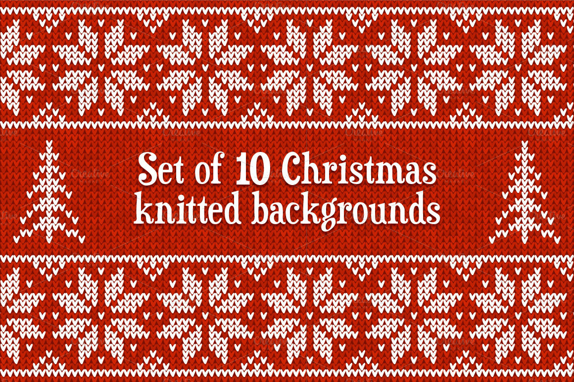 10 knitted vector seamless patterns ~ Patterns on Creative Market