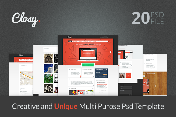 CLOSY Multi Purpose PSD Template