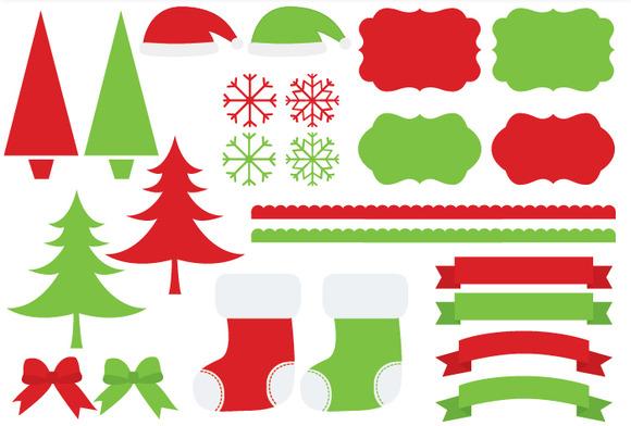 Red Green Christmas Set
