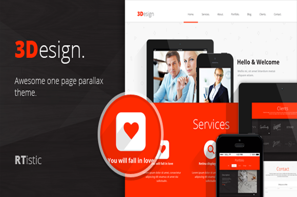 3Design Cheap Onepage Template
