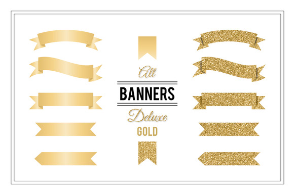 Banners Deluxe Gold
