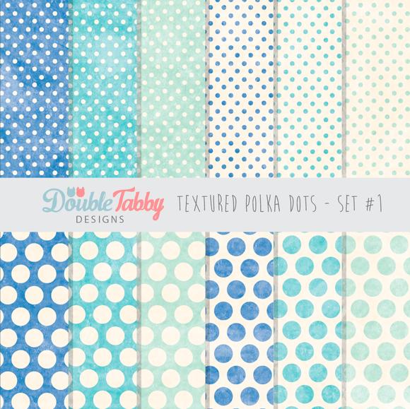 Textured Polka Dot Paper Pack Set1