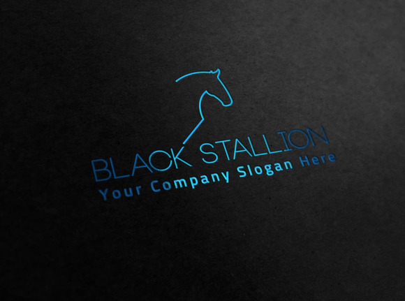 Logo Black Black Stallion Logo