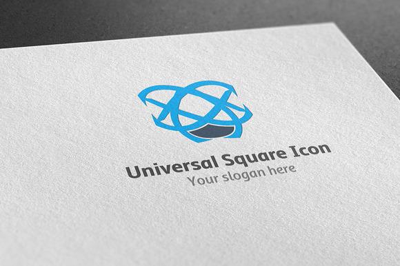 Universal Square Icon Logo