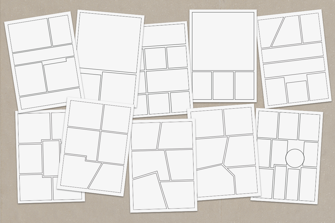 vector comic strip templates objects on creative market. Black Bedroom Furniture Sets. Home Design Ideas