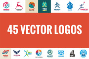 45 Creative Vector Logos-Graphicriver中文最全的素材分享平台