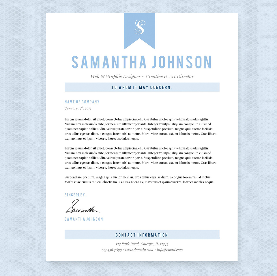 Light Blue Resume Template Package