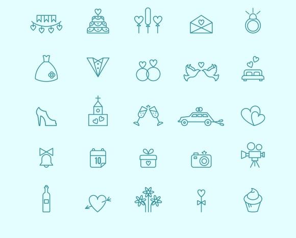 Wedding icons ~ Icons on Creative Market: https://creativemarket.com/microvector/221060-Wedding-icons