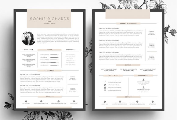Resume / CV / Business Card ~ Resume Templates on Creative Market